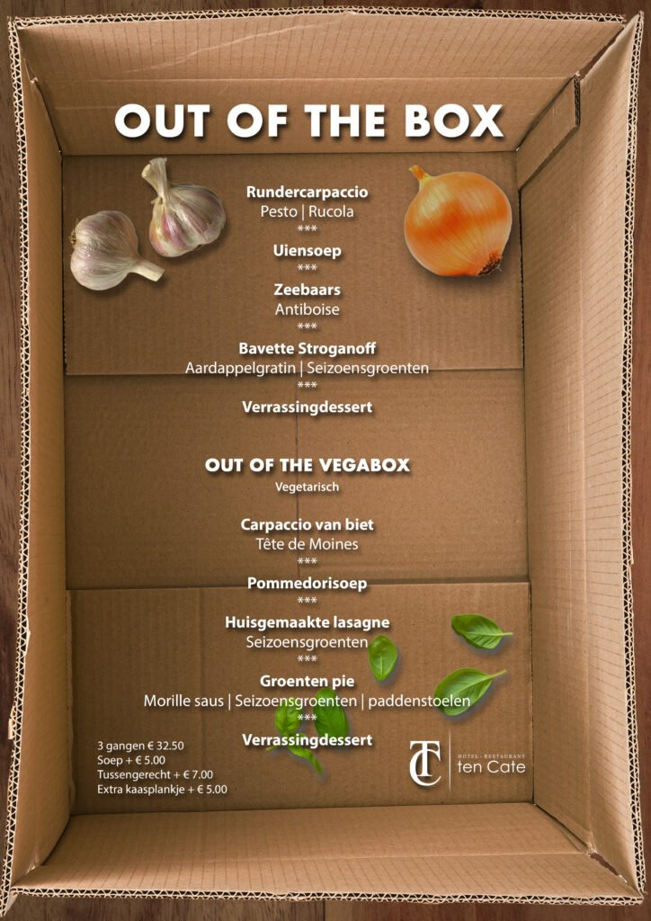 Out of the Box - menu